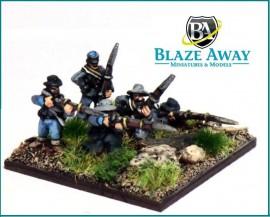 BA/ACW06 - Infantry in Slouch Hat Firing & Loading