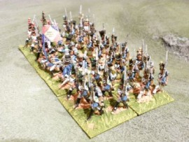 25/BP060 - French Line Infantry March Attack in Full Dress