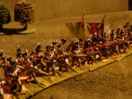 25/BP004 - British Line Infantry Advancing (Belgic Shako)