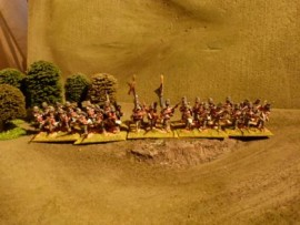 25/BP009 - British Line Infantry at Ready (Shako Cover)